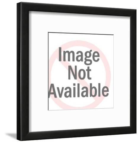 Close up of Stern Woman-Pop Ink - CSA Images-Framed Art Print