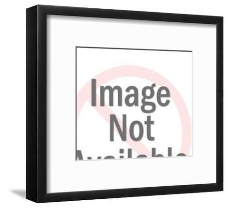 Woman With Her Eyes Closed-Pop Ink - CSA Images-Framed Art Print