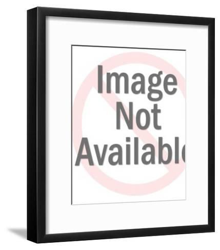 Man Trying To Stop Zombie From Carrying Woman Off-Pop Ink - CSA Images-Framed Art Print
