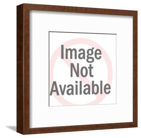 Woman Wearing Glasses and Man-Pop Ink - CSA Images-Framed Art Print