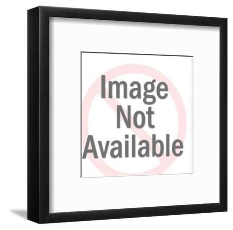 Man and Woman Eating at Table-Pop Ink - CSA Images-Framed Art Print