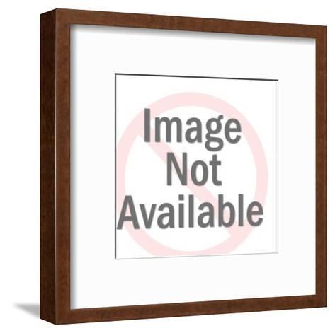 Woman Pulling Blanket up-Pop Ink - CSA Images-Framed Art Print