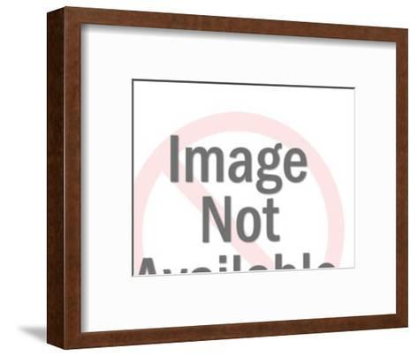 Woman Looking at Hand-Pop Ink - CSA Images-Framed Art Print