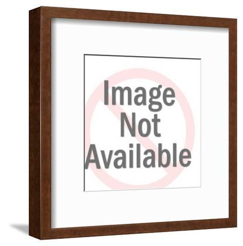 Smiling Dark Haired Man-Pop Ink - CSA Images-Framed Art Print