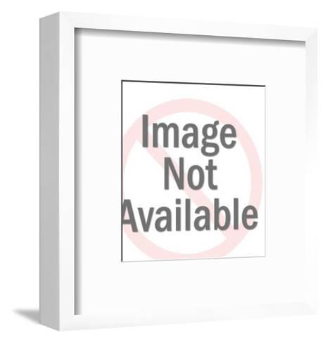 Confused Blonde Woman-Pop Ink - CSA Images-Framed Art Print