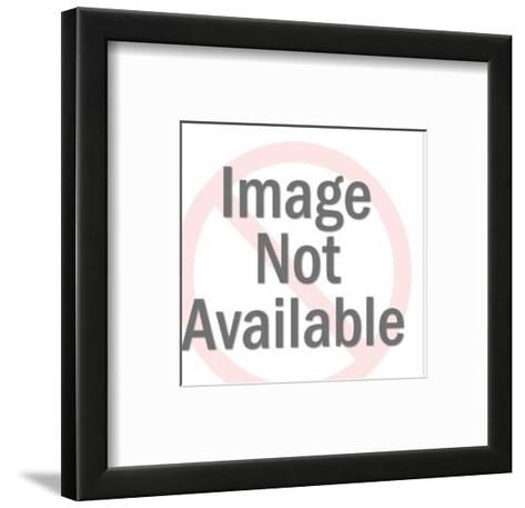 Close up of Man With Eyes Closed and Hand on Face-Pop Ink - CSA Images-Framed Art Print