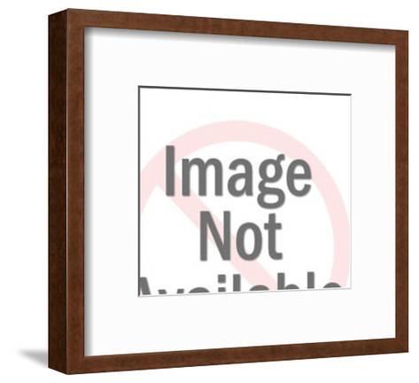 Elderly Man Holding Drink and Man in Background-Pop Ink - CSA Images-Framed Art Print