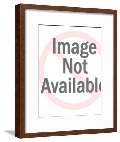 Man and Woman Walking-Pop Ink - CSA Images-Framed Art Print