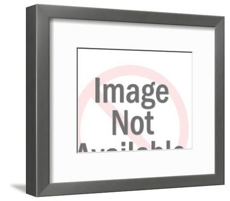 Close up of Dark Haired Woman-Pop Ink - CSA Images-Framed Art Print