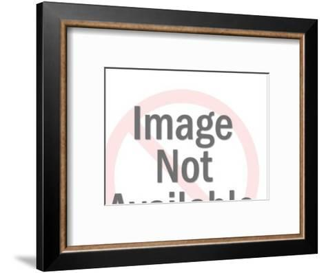 Man and Woman Talking With Speech Balloons-Pop Ink - CSA Images-Framed Art Print