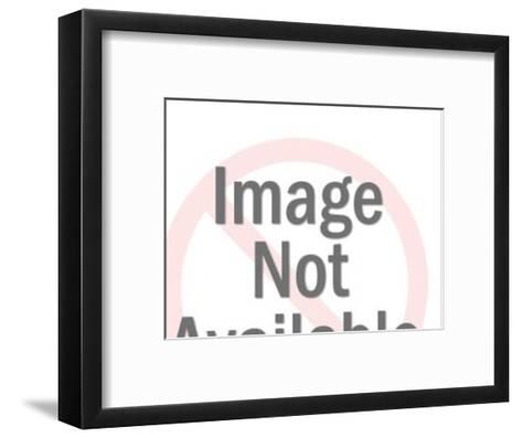 Dark Haired Man Squinting-Pop Ink - CSA Images-Framed Art Print