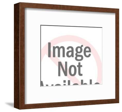 Woman and Upset Man-Pop Ink - CSA Images-Framed Art Print