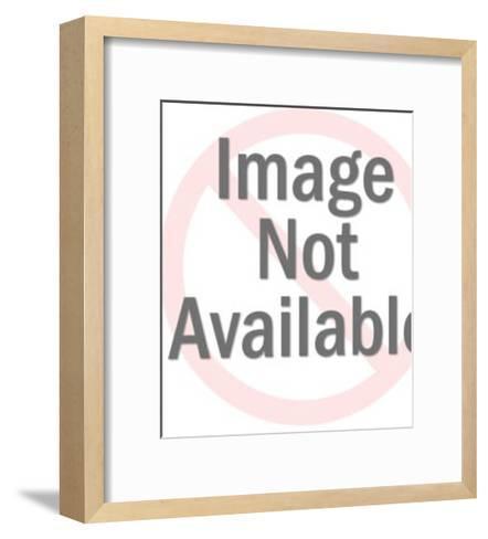 Man Looking Over His Shoulder-Pop Ink - CSA Images-Framed Art Print
