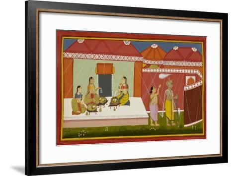 The Queens Eat the Blessed Food--Framed Art Print