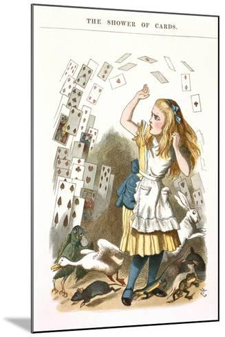 The Shower Of Cards-John Teniel-Mounted Giclee Print
