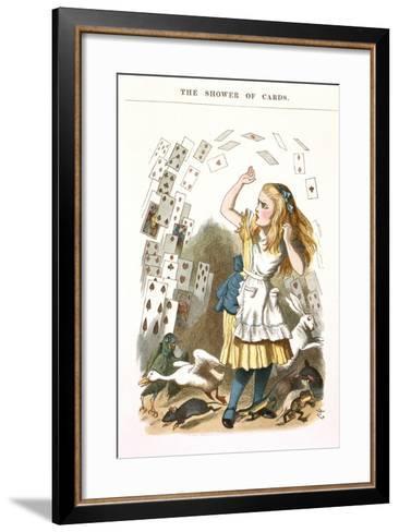 The Shower Of Cards-John Teniel-Framed Art Print