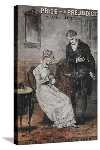 Front Cover To the Novel, 'Pride and Prejudice' by Jane Austen--Stretched Canvas Print
