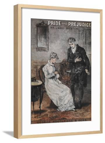 Front Cover To the Novel, 'Pride and Prejudice' by Jane Austen--Framed Art Print