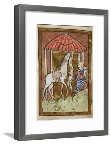 St. Cuthbert's Horse Pulls Down Bread and Meat-Bede-Framed Art Print