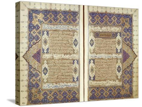 Pages From a Qur'an--Stretched Canvas Print