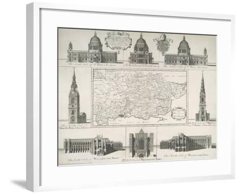 London Churches--Framed Art Print