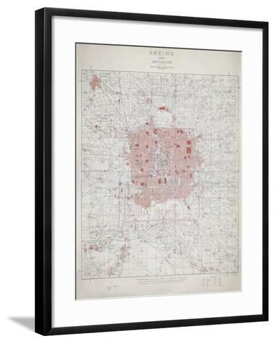 Peking and Environs--Framed Art Print