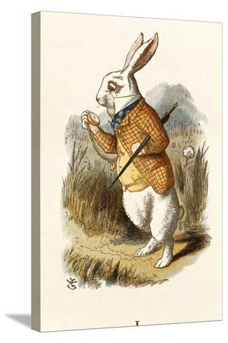 The White Rabbit-John Teniel-Stretched Canvas Print