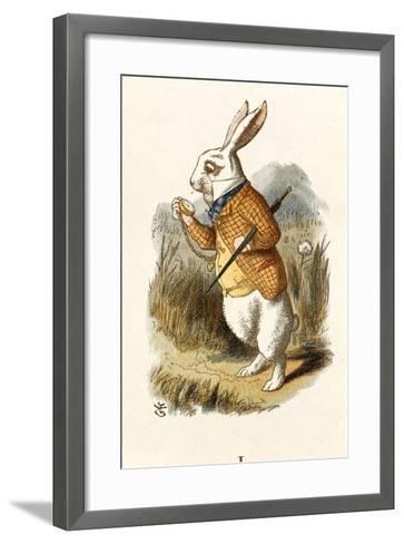 The White Rabbit-John Teniel-Framed Art Print