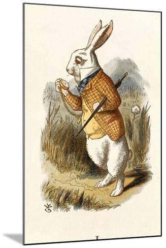 The White Rabbit-John Teniel-Mounted Giclee Print
