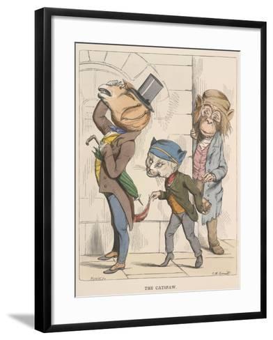 Aesop Fables-C.H. Bennett-Framed Art Print
