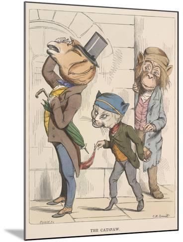 Aesop Fables-C.H. Bennett-Mounted Giclee Print