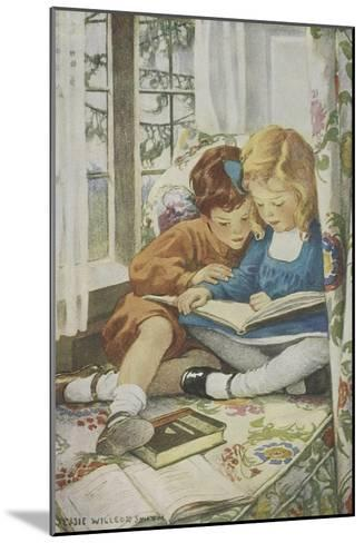 Young Boy and Girl-Jessie Willcox-Smith-Mounted Giclee Print