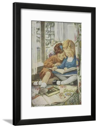 Young Boy and Girl-Jessie Willcox-Smith-Framed Art Print
