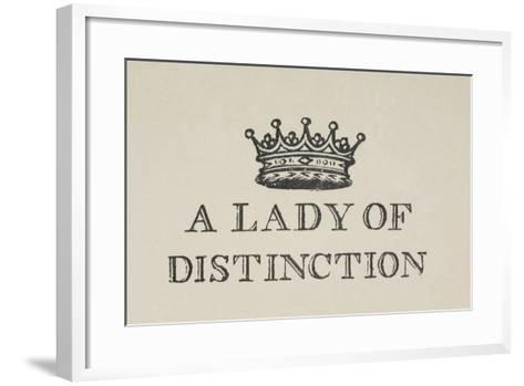 A Lady Of Distinction'. Illustration Of a Crown With Text-Thomas Bewick-Framed Art Print