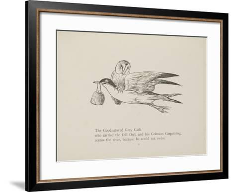 Grey Gull, Carrying Owl and Carpet Bag From a Collection Of Poems and Songs by Edward Lear-Edward Lear-Framed Art Print