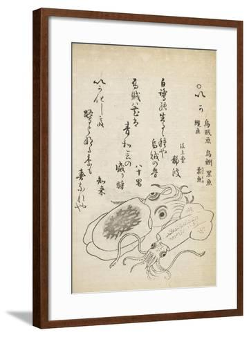 Squid-Katsuma Ryusai-Framed Art Print