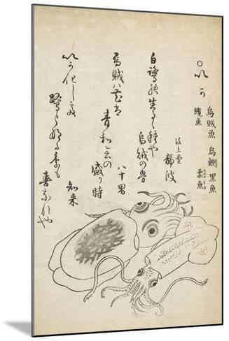 Squid-Katsuma Ryusai-Mounted Giclee Print