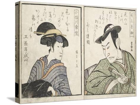 Kabuki Actors-Kitagawa Utamaro-Stretched Canvas Print