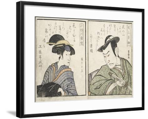 Kabuki Actors-Kitagawa Utamaro-Framed Art Print