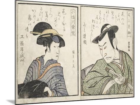 Kabuki Actors-Kitagawa Utamaro-Mounted Giclee Print