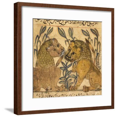 Two Lions-Aristotle ibn Bakhtishu-Framed Art Print
