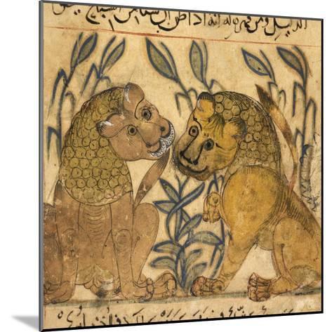 Two Lions-Aristotle ibn Bakhtishu-Mounted Giclee Print