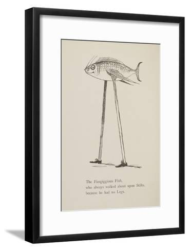 Fish On Stilts From Nonsense Botany Animals and Other Poems Written and Drawn by Edward Lear-Edward Lear-Framed Art Print