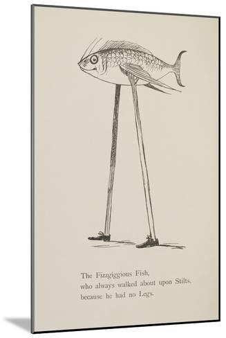 Fish On Stilts From Nonsense Botany Animals and Other Poems Written and Drawn by Edward Lear-Edward Lear-Mounted Giclee Print