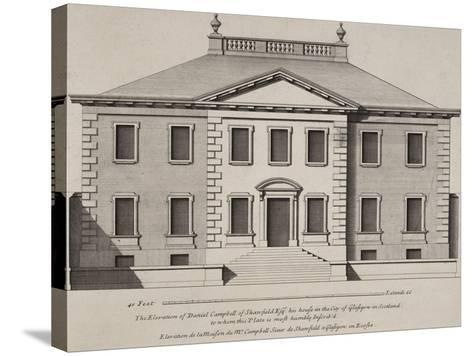 Front Elevation Of a Building. From a Pattern Book Of Drawings Of Typical English Buildings--Stretched Canvas Print