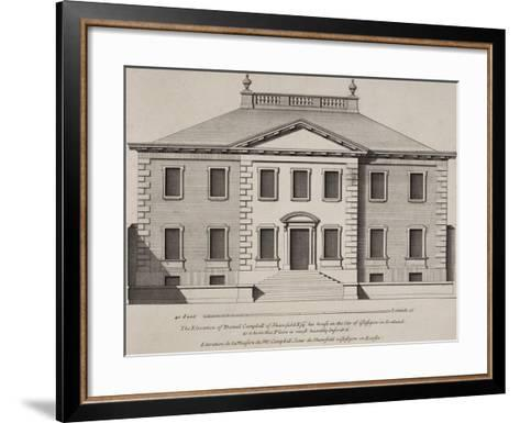 Front Elevation Of a Building. From a Pattern Book Of Drawings Of Typical English Buildings--Framed Art Print