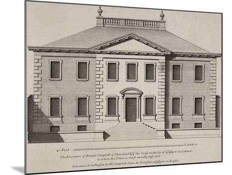 Front Elevation Of a Building. From a Pattern Book Of Drawings Of Typical English Buildings--Mounted Giclee Print