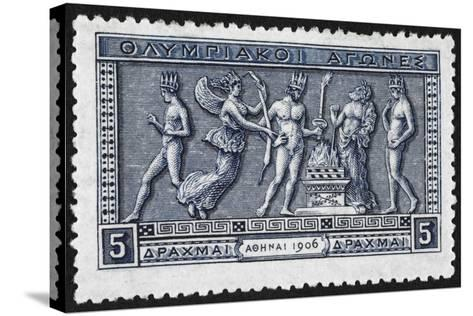 Olympic Offerings. Greece 1906 Olympic Games 5 Drachma, Unused--Stretched Canvas Print