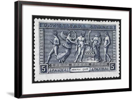 Olympic Offerings. Greece 1906 Olympic Games 5 Drachma, Unused--Framed Art Print