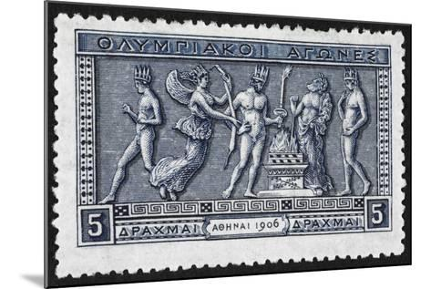 Olympic Offerings. Greece 1906 Olympic Games 5 Drachma, Unused--Mounted Giclee Print